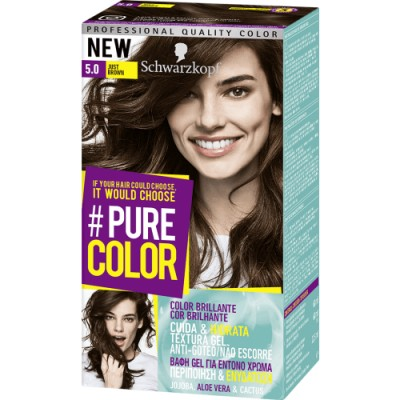 Pure Color Schwarzkopf Tinte Capilar 5.0 Just Brown