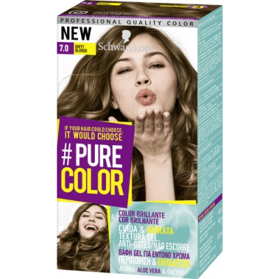 Pure Color Schwarzkopf Tinte Capilar 7.0 Dirty Blonde