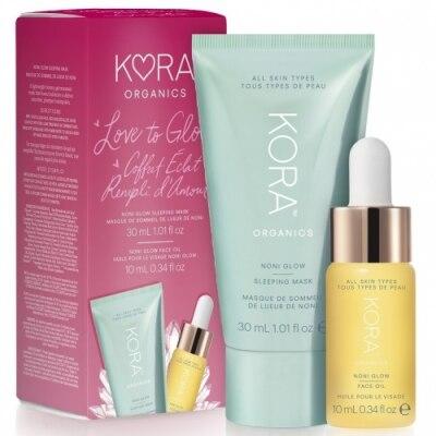 KORA Organics Pack Kora Noni Glow Sleeping Mask y Noni Glow Face Oil