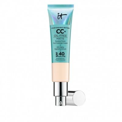 IT Cosmetics IT Cosmetics Your Skin But Better™ CC+™ Oil Free Matte SPF 40. Crema correctora, antiedad y SPF 40