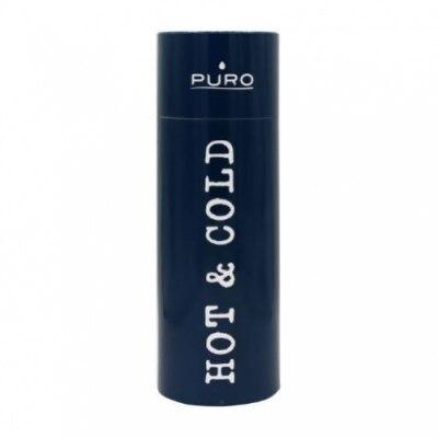 Puro Puro Botella de Acero Inoxidable Hotcold Azul