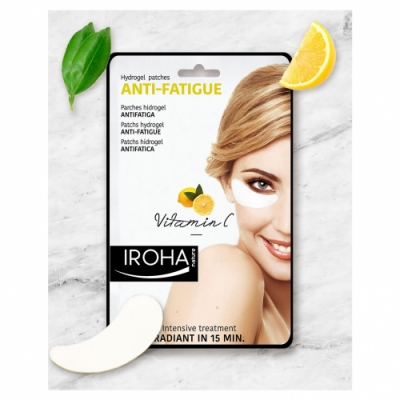 Iroha Nature Parches para Ojos de Hidrogel Antifatiga Vitamina C