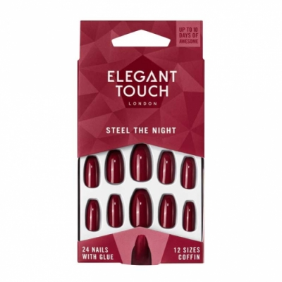 Elegant Touch Elegant Touch Trend Nails Steel The Night Red