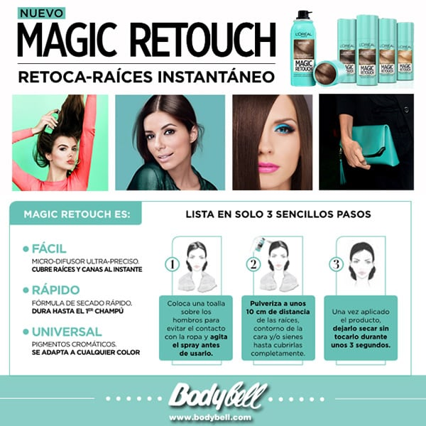 Magic retouch raices canas tinte