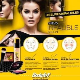 maquillaje para selfies con infalible sculpt de l´oreal