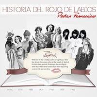 HISTORIA DEL ROJO DE LABIOS; símbolo de belleza e independencia.