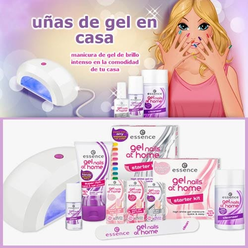 Uñas Essence nail home.