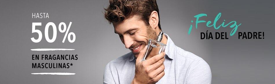 Hasta 50% en perfumes masculinos
