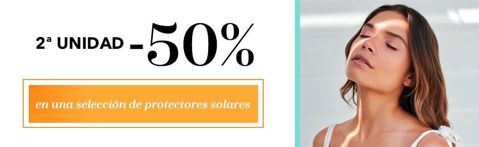 Descuento 2ª unidad al 50% en selección de protectores solares