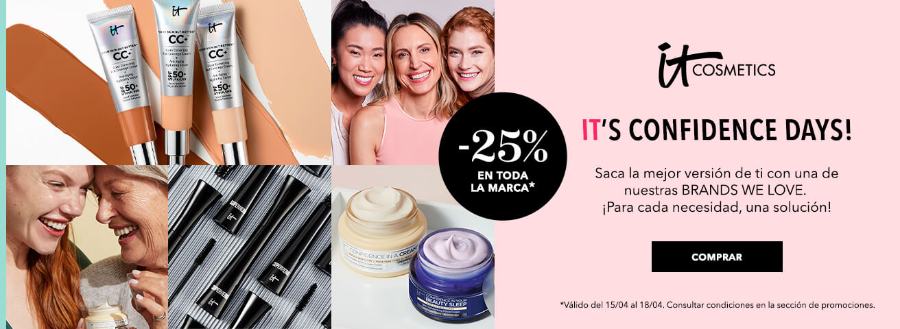 It´s Confidence Days! de It Cosmetics -25% en toda la marca