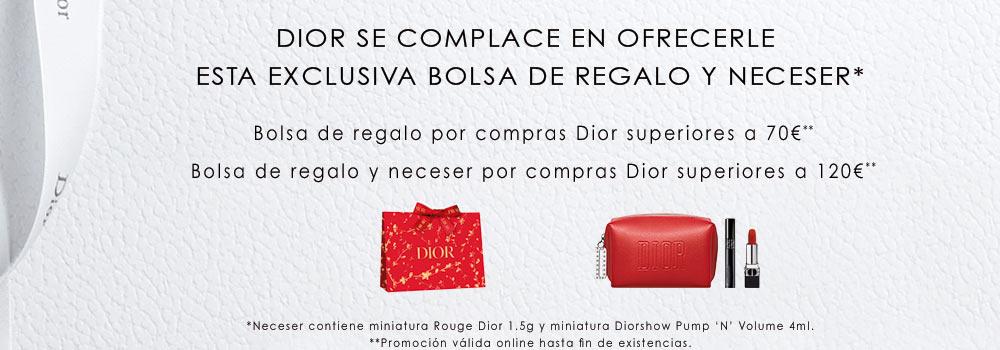 Por compras superiores a 70€ en productos Dior, regalo de esta bolsa de la firma. Promoción válida desde el 13 hasta el 18 de abril de 2021 o hasta agotar las 250 unidades disponibles para compras online.