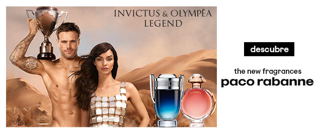 Paco Rabanne Invictus y Olympea Legend
