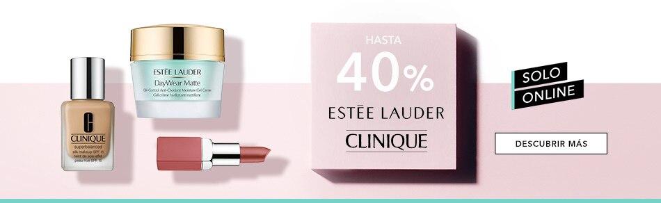 40% de descuento en Estée Lauder y Clinique