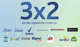 3x2 en selección productos de higiene