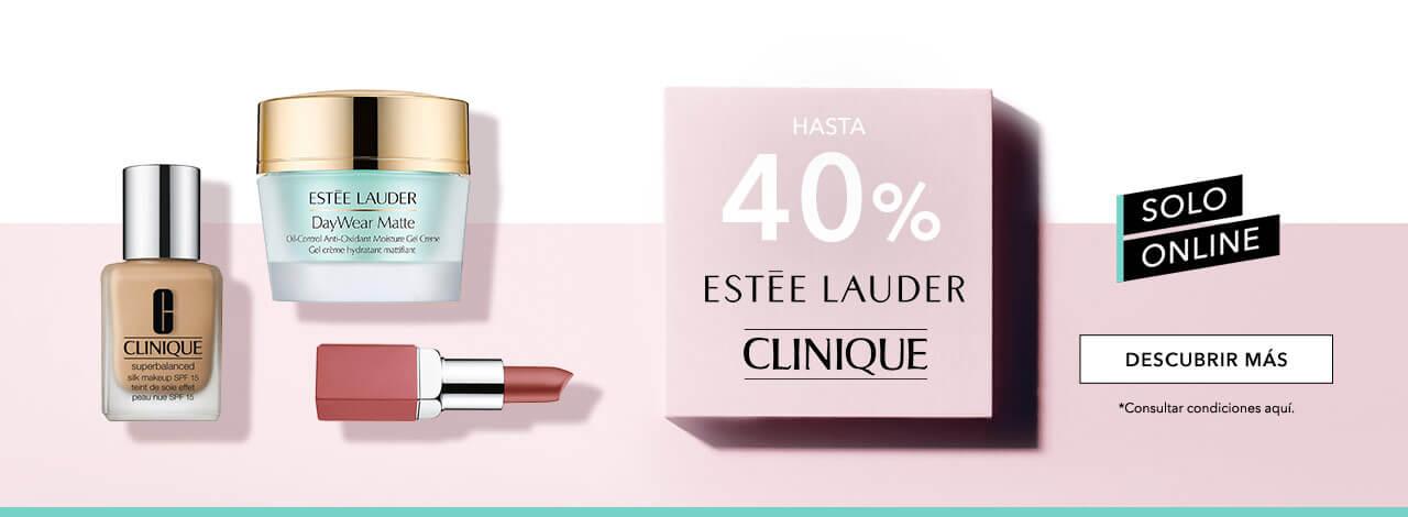 40% en Estée Lauder y Clinique