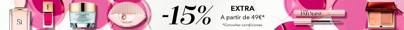 15% extra en todo