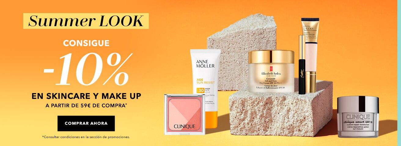 -10% en skincare y makeup
