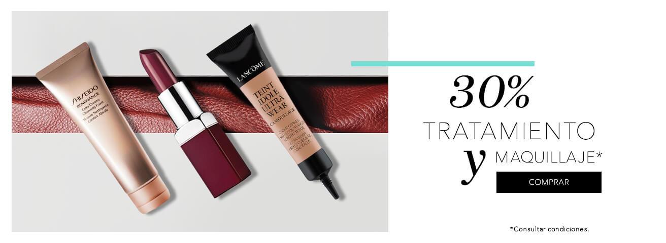 30% tratamiento y maquillaje