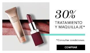 30% dto en tratamiento y maquillaje