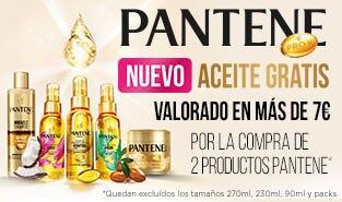 Pantene regalo de aceite por la compra de 2 productos de la marca