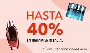Hasta 40% en tratamiento facial