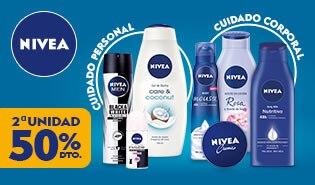 2ª unidad al 50% en selección de productos de Nivea