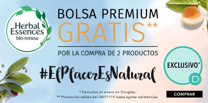 Bolsa Premium Gratis por la compra de 2 productos Herbal Essences