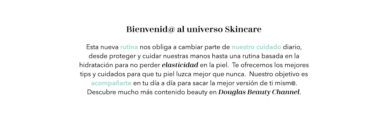 Douglas Beauty Channel Skincare