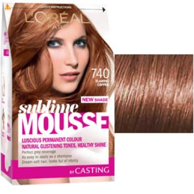 Sublime Mousse Tinte capilar 740 flaming copper