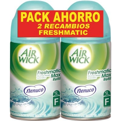 Airwick Ambientador Fresh matic recambio Nenuco pack 2 unidades