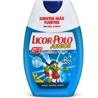 Licor Del Polo Pasta dental Junior 2 en 1 75 ml. Menta suave