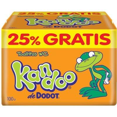 Kandoo Toallitas Pack 100 Unidades