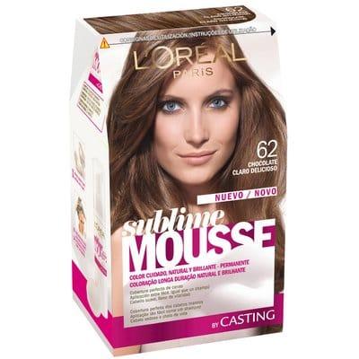 Sublime Mousse Tinte capilar 62 chocolate claro delicioso