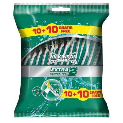 Wilkinson Máquina de afeitado Extra II Sensitive pack 10 + 10 unidades