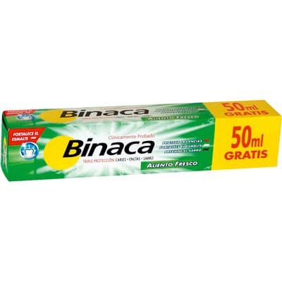 Binaca Pasta dental 125 ml. Menta fresca