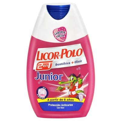 Licor Del Polo Pasta dental 2 en 1 Junior 75 ml.