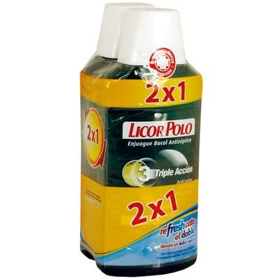 Licor Del Polo Enjuague Dental Triple Acción Pack 2 X 1