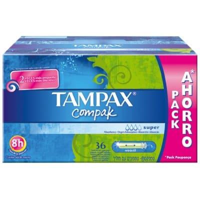 Tampax Tampón Compak super pack 36 unidades