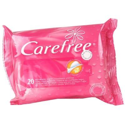 Carefree Toallitas íntimas con camomila pack 20 unidades
