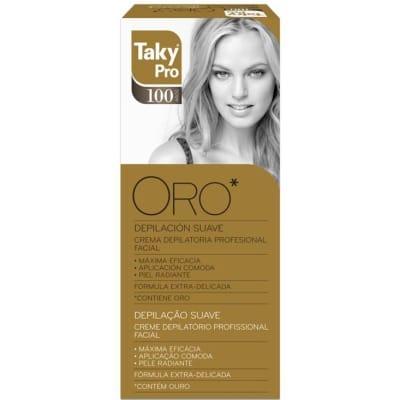 Taky Crema depilatoria profesional facial Oro 20 ml.