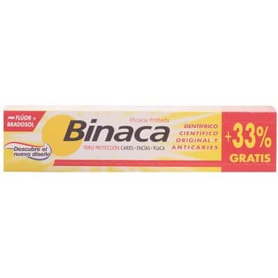 Binaca PASTA BINACA AMARILLO 75ML+33%
