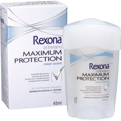 Rexona Desodorante Maximum Protection Clean Fresh Scent crema 45 ml.