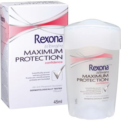Rexona Desodorante Maximum Protection Confidence crema 45 ml.