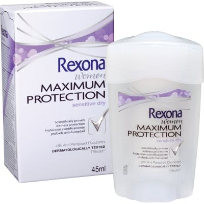 Rexona Desodorante Maximum Protection Sensitive dry crema 45 ml.