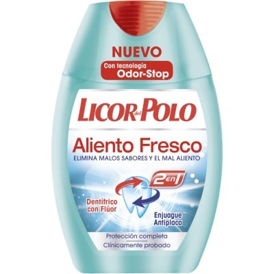 Licor Del Polo Pasta dental 2 en 1 75 ml. Aliento fresco