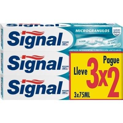 Signal Pasta dental Microgránulos 75 ml. pack 3 x 2