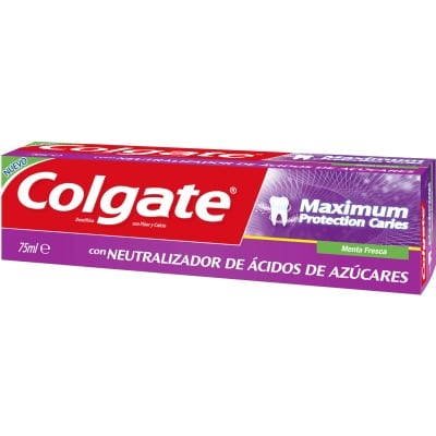 Colgate Pasta dental Maximum Protection Caries con neutralizador de ázucar 75 ml.