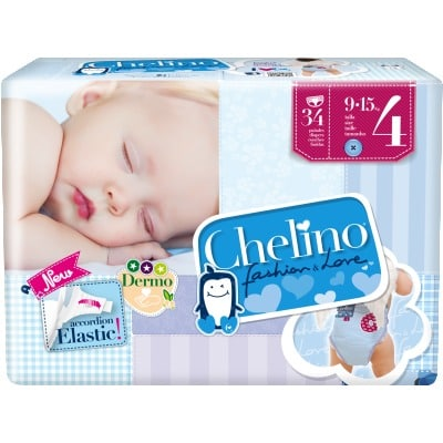 Chelino Pañal Fasion & Love T-4 9/15 kg Pack 34 Uds