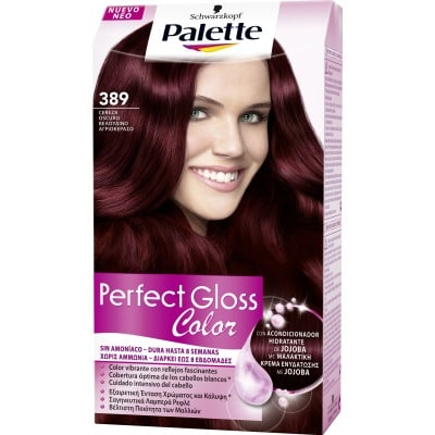 Palette Perfect Gloss Tinte capilar Perfect Gloss nº 389 Cereza oscuro