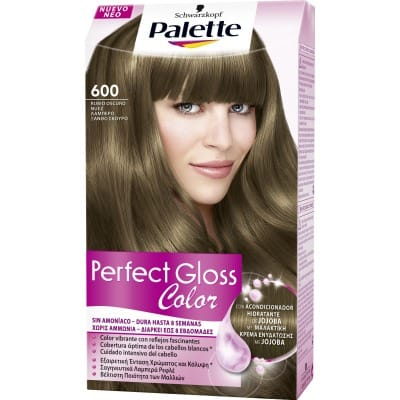 Palette Perfect Gloss Tinte capilar Perfect Gloss nº 600 Rubio oscuro nuez